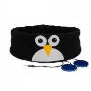 Vtipná detská čelenka so slúchadlami - Tučniak