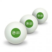 Green Party Flower Globe Novelty Table Tennis Ping Pong Ball 3 Pack