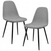 [en.casa]® Design stolica set od 2 komada - 86 x 46cm - siva