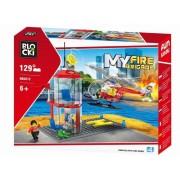 Joc constructie, My Fire Brigade, Platforma pompieri, 129 piese Blocki
