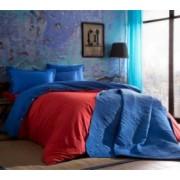 Lenjerie de pat 2 persoane Tac Colorful rosu 100 bumbac ranforce 4 piese