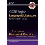 Grade 9-1 GCSE English Language and Literature Complete Revision & Practice (with Online Edn) by CGP Books