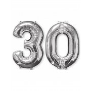Vegaoo.se 30-år - 2 silverfärgade aluminiumballonger