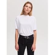 Reserved - Jednobarevné tričko - Krémová