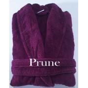 Salomé Prestige Peignoir col châle mixte coton peigné 420 gr / M²-Small-prune