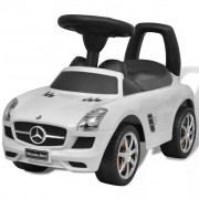 vidaXL Mercedes Benz Foot-Powered Kids Car White