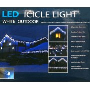 Led Icicle White Light Outdoor 8 Function Controller 6M Christmas Decoration