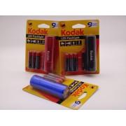 Kodak lanterna metalica cu 9 led-uri, IP62, 46 lumeni, cu baterii incluse 3 x AAA
