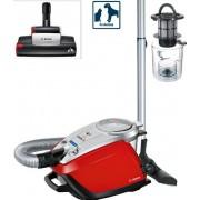 Aspirator fara sac Bosch BGS5335, 3 l, 800 W, Filtru HEPA, SensorBagless, Perie turbo ProAnimal (Rosu)