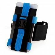 CTSmart multifuncional banda ajustable al aire libre del brazo del telefono movil para montar alpinismo noche de pesca corriendo - azul
