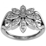 Jewel Hub SI-IJ Diamond Ring 0.425 ct /2.68 gm Sterling Sliver 925