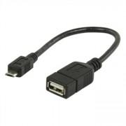USB 2.0 A Hona - micro USB B Hane OTG-datakabel