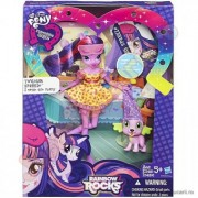 My Little Pony Rainbow Rocks Twilight Sparkle si Spike B1072