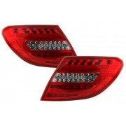 Stopuri Full LED compatibil cu MERCEDES Benz C-Class W204 2007-2012 LED Light Bar Facelift Design