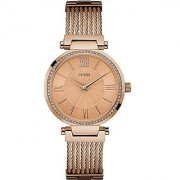 Guess Analog Rose Gold Dial Watch For Women -W0638L4