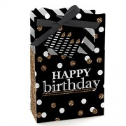 Big Dot Of Happiness Adult Happy Birthday - Gold Party Favor Boxes Set 12