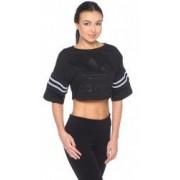 Tricou Adidas Originals Tennis Crop Tee Trefoil negru S - M INTL