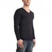Garage Longsleeve bodyfit V-neck Black ( art 0204)