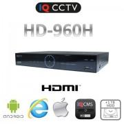 DVR rekordér so 4 vstupmi, real time 960H, HDMI + 1TB