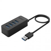 ORICO W5P-U3-30 4-Port USB 3.0 Desktop HUB with 30cm Micro USB Cable Power Supply (Black)