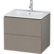 Duravit L-Cube Waschtischunterbau LC624001414 Terra, 62x55,5x48,1cm, 2 Schubladen, wandhängend