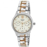 Casio Enticer Analog White Dial Womens Watch - LTP-E306RG-7AVDF(A1002)