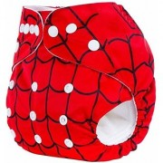 House of Quirk Wet-Free Inserts for Babies of Ages 0 to 2 Years (Printed Red) Diaper Bag