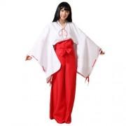 Kimono Inuyasha Japonais Rouge Traditionnel Taille 36 - 44 Noeuds Élégant. Black Sugar Paris Déguisement Cosplay Manga Mode Lolita Et Gothique