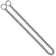 KH Hundhalsband strypkedja platta länkar förkromat stål 2.5mm x 45cm