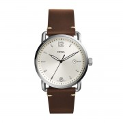 Часовник FOSSIL - The Commuter 3H Date FS5275 Dark Brown/Silver/Steel