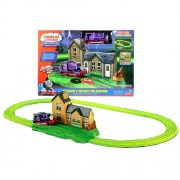 Fisher Price Year 2011 Thomas And Friends Exclusive Series Trackmaster Motorized Railway Battery Powered Tank Engine Playset Stormy Night In Sodor With Glow In The Dark Track, Stormy Maithwaite Station With Spooky Pop Up Action And Sounds Plus Motorized C