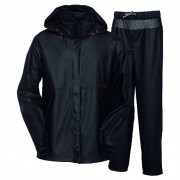 Didriksons Cirrus Unisex Rainwear / Anoraks Set Top & Bottom Black 556010
