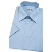 Pánská košile KLASIK krátký rukáv Světle modrá 351-15-41/182