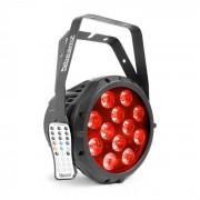 Beamz professional BWA412 Aluminium IP65 Reflector LED Par 12x18W 6 en 1 LEDs RGBWA-UV (Sky-150.763)