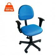 Cadeira de Escritório Secretária Álvaro Ajustável com Braço Azul