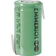 Acumulator NiMH cu urechi de lipire Z, Sub-C, 1,2 V, 2400 mAh, Emmerich