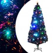 vidaXL Изкуствено коледно дърво със стойка/LED, 210 см, 280 клончета