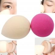 EH 2 Piezas De Maquillaje Forma Waterdrop Esponja Blender Fundación Flawless Puff