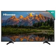 """Hisense 43H6E Smart TV 43"""", 3840 x 2160, Ultra HD 4K, HDR, 3 x HDMI, 1 x USB 3.0, Color Negro"""