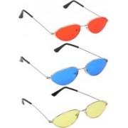 Mango People Round Sunglasses(Red, Blue, Yellow)