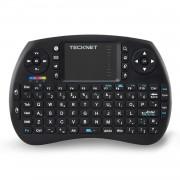 Tecknet Mini Keyboard X331 - мини безжична клавиатура с тъчпад за компютри и мобилни устройства (черен)