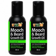 RND Mooch and Beard Growth Oil Hair Oil (50 ML PACK OF 2) (RND-GREEN BEARD)