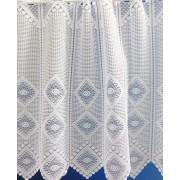 Fehér hímzett lepkés voila vitrage függöny méterben/018/Cikksz:01140335