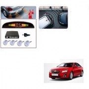 Auto Addict Car Silver Reverse Parking Sensor With LED Display For Chevrolet Cruze