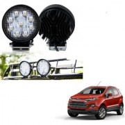 Auto Addict DEVICE 4 inch 9 LED 27Watt Round Fog Light with Flood Beam Auxiliary Lamp Set Of 2 Pcs For Ford Ecosport