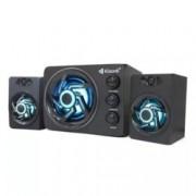 Тонколони Kisonli TM-8000A, 2.1, 11W (5W + 2x 3W) RMS, USB, AUX, Bluetooth, бял/черен