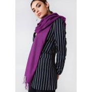 NA-KD Accessories Woven Scarf - Scarves - Purple
