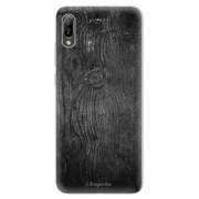 Odolné silikonové pouzdro iSaprio - Black Wood 13 - Huawei Y6 2019