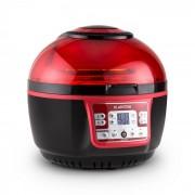 Klarstein Vitair Turbo, 1400 W, 9 л, фритюрник с горещ въздух, грил, печене, червено-черен (TK20-Vitair-2G-R)