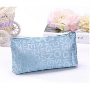 Aeoss Portable Cute Multifunction Zipper Travel Cosmetic Pencil Pouch Portable Storage Bag Letter Makeup Case
